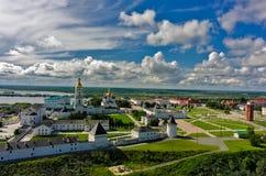 Aerial view onto Tobolsk Kremlin Stock Images