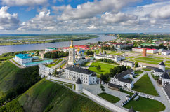 Aerial view onto Tobolsk Kremlin Stock Images