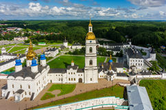 Aerial view onto Tobolsk Kremlin at summer time Royalty Free Stock Photography
