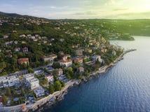 Aerial View of Opatija, Croatia Royalty Free Stock Images