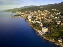 Aerial View of Opatija, Croatia Stock Images