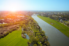 Aerial view of Opole Stock Photos