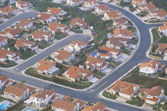 Aerial view of Orange County suburbs, Royalty Free Stock Photo
