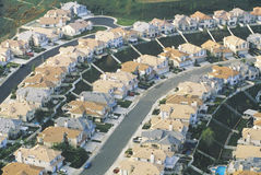 Aerial view of Orange County suburbs, Stock Image