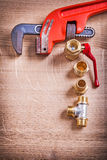 Aerial View Organized Copysoace Monkey Wrench And Royalty Free Stock Photos