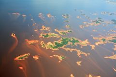 Aerial view on Orinoco river Stock Photos
