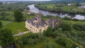Ormond castle. Carrick-on-Suir. co. Tipperary. Ireland. Aerial view. Ormond castle in Carrick-on-Suir. county Tipperary. Ireland royalty free stock photos