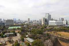 Aerial view of Osaka city Stock Photos