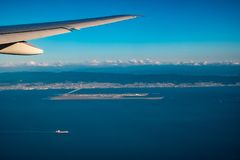 Aerial view of Osaka International Airport Stock Images