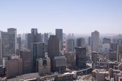 Aerial view of Osaka Japan Stock Photo