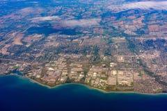 Aerial view of the Oshawa area cityscape. At Canada royalty free stock photos