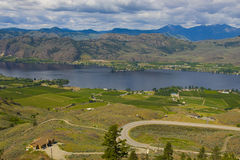 Aerial view of Osoyoos Wine Valley Royalty Free Stock Images