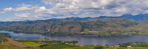 Aerial view of Osoyoos Wine Valley Panorama Stock Photo