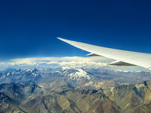 Aerial view ot the mountains of the Andes Royalty Free Stock Photography