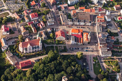 Aerial view of Otmuchow town in Poland Stock Photos