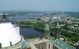Aerial View of Ottawa royalty free stock images