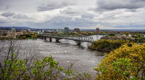 Aerial view of Ottawa, Canada stock images