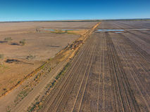 Aerial view of Outback Cattle mustering Stock Photography