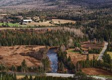 Aerial view of outer Lake Placid Stock Photos