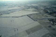Aerial view over the agricultural plant Royalty Free Stock Photography