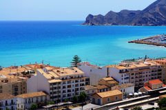 Aerial view over Altea bay Royalty Free Stock Image