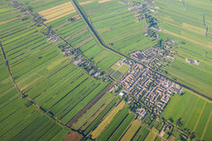 Aerial view over the Amsterdam suburbs Stock Photography