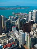 Aerial view over Auckland city royalty free stock image