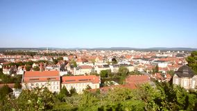 Aerial view over Bamberg stock footage