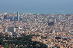 Aerial view over Barcelona Royalty Free Stock Photos