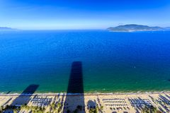 Aerial view over beach Nha Trang city Royalty Free Stock Photography