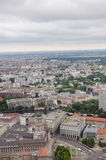 Aerial view over Berlin from Fernsehturm. An aerial view over Berlin buildings seen from the Berlin TV-tower Stock Image