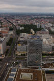 Aerial view over Berlin from Fernsehturm. An aerial view over Berlin buildings seen from the Berlin TV-tower Stock Photography
