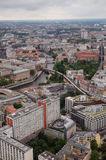 Aerial view over Berlinfrom Fernsehturm. An aerial view over Berlin seen from the Berlin TV-tower Stock Images