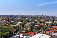 Aerial view over Bucharest houses and flats. Royalty Free Stock Photography