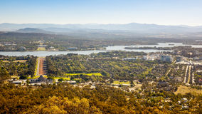 Aerial view over Canberra. An image of the capital city of Australia - Canberra Royalty Free Stock Image