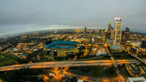 Aerial view over charlotte north carolina Stock Photos