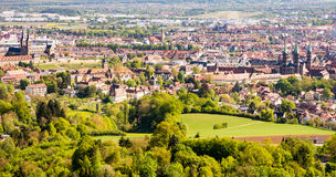 Aerial view over the city of Bamberg Royalty Free Stock Image