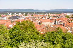 Aerial view over the city of Bamberg Stock Photography