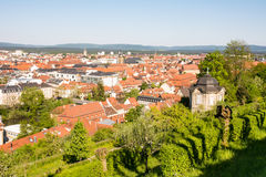 Aerial view over the city of Bamberg Royalty Free Stock Photo