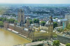 Aerial view over the city of London Stock Images