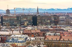 Aerial view over the city of Munich Stock Photo