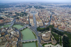 Aerial view over the City of Rome Stock Photos
