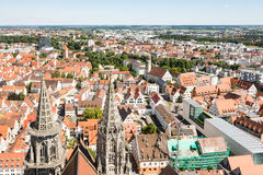 Aerial view over the city of Ulm Royalty Free Stock Photo