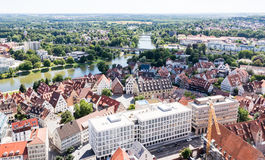 Aerial view over the city of Ulm Royalty Free Stock Photography