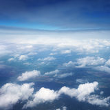 Aerial view over the clouds Royalty Free Stock Photos