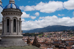 Aerial view over Cuenca Stock Photography