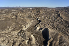 Aerial view over the desert mountains of Almeria Stock Photo