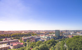 Aerial view over Gothenburg City in Sweden. Stock Images