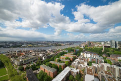 Aerial view over Hamburg Royalty Free Stock Photography