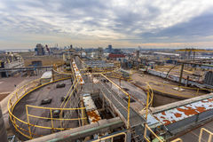 Aerial View over Heavy Industrial Area Royalty Free Stock Photography